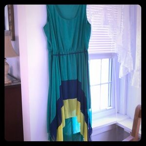 High Low Color Block A-List Dress L